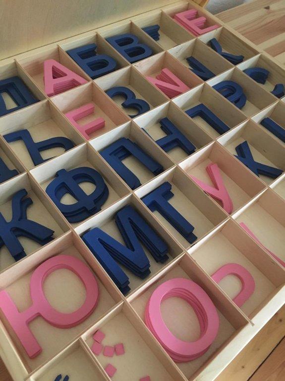 Koka alfabēts - krievu valodā (kaste + burti)
