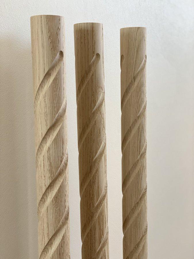 Virpoti-frēzēti koka reliņi- Forma 1
