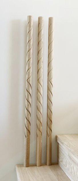 Virpoti- frēzēti koka reliņi - Forma 2