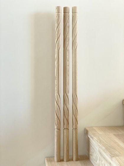 Virpoti frēzēti koka reliņi - Forma 4