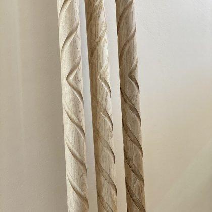 Фрезерованные деревянные перила