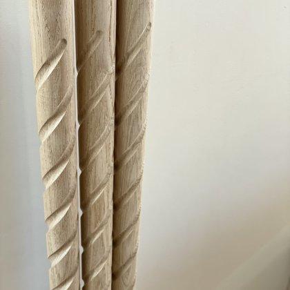 Virpoti-frēzēti koka reliņi (Forma 1)