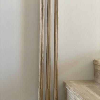 Virpoti-frēzēti koka reliņi (Forma 3)