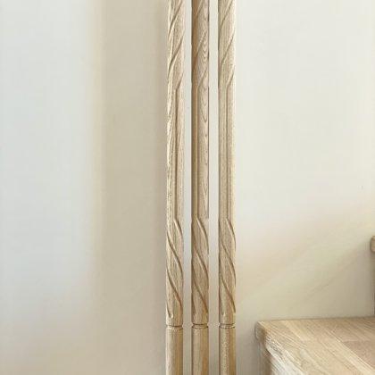 Virpoti-frēzēti koka reliņi (Forma 4)